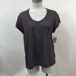 """Project Social T Knit Pocket T-Shirt """"Blaise"""" Plum"""